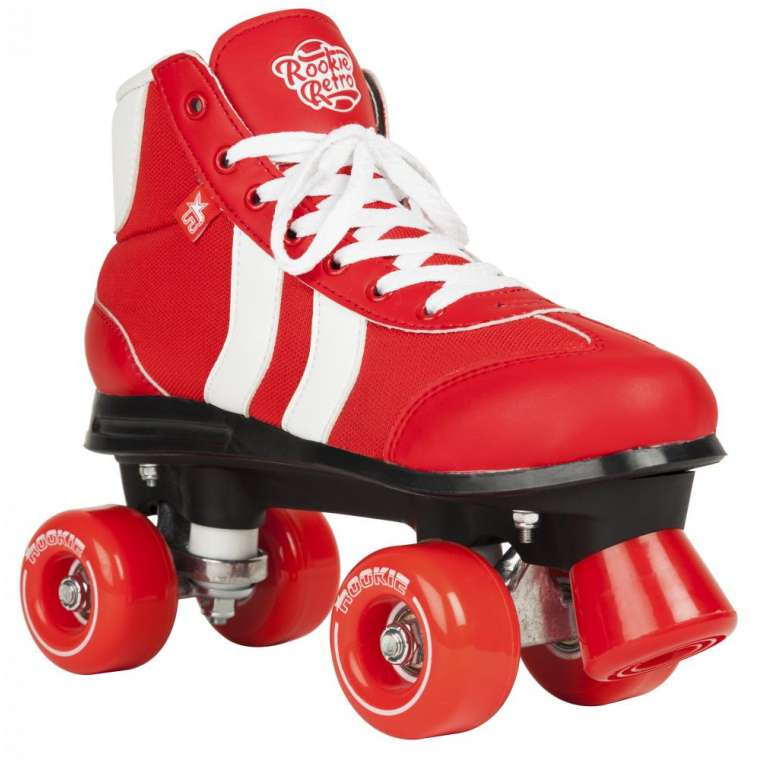 rookie red white skate