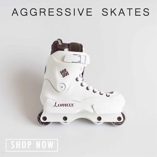 button for aggressive skates