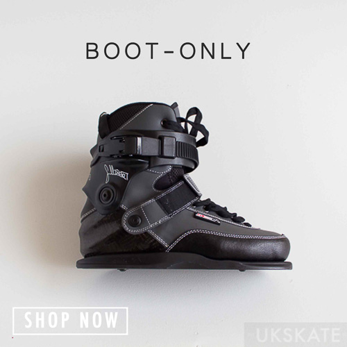 skates boot only button