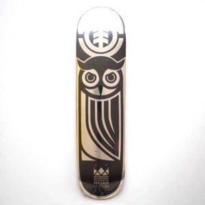 Element Nyjah Black Owl Deck