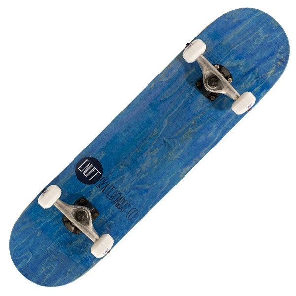 enuff-logo-stained-complete-skateboard-blue