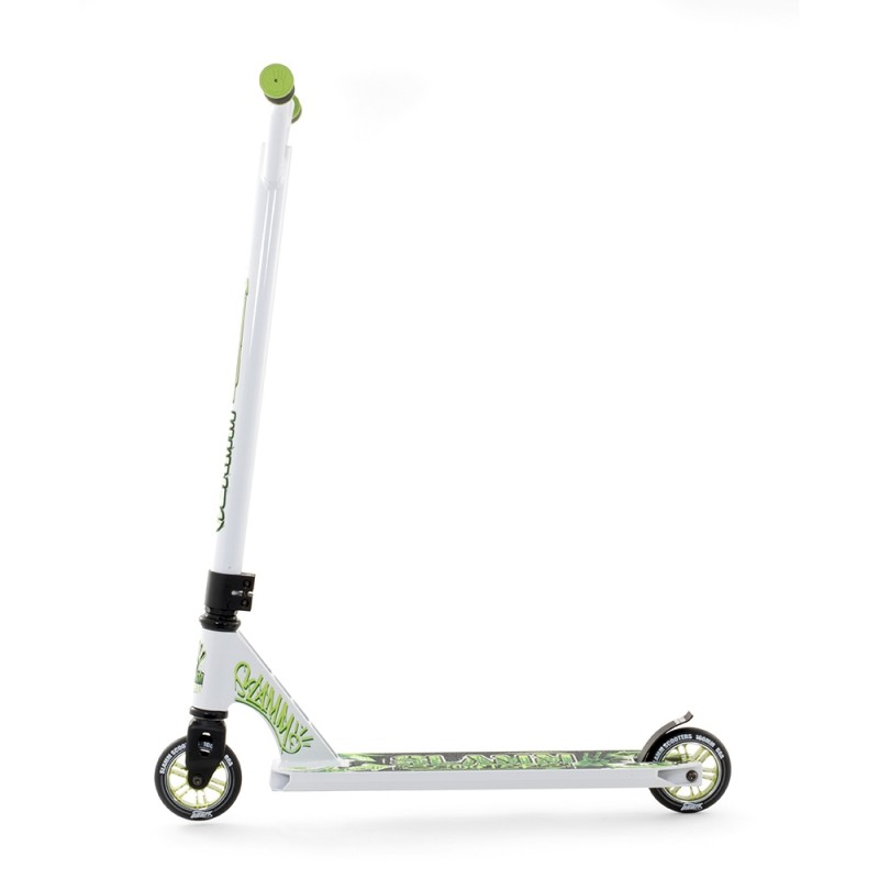 slamm urban xtrm 2 stunt scooter white green