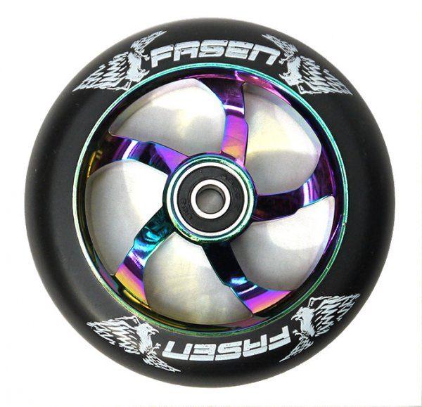 fasen raven neochrome oil slick wheel